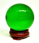 Green Glass Sphere, 40mm Diameter with Stand