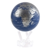"MOVA 4-1/2"" Solar Spinning Globe Blue and Silver"