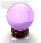 Pink Glass Sphere, 40mm Diameter with Stand