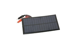 7.2 Volts 200mA 1.4 Watt Solar Panel with Alligator Clips