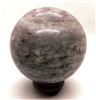 Pink Tourmaline in Granite Sphere , 60mm Diameter