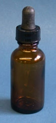 Amber Bottle with dropper 8 oz.