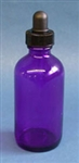 Cobalt Bottle 4 oz. with dropper