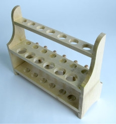 2-Tier Test Tube Rack Wood with 13 holes