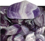 Banded Amethyst Tumbled 1""