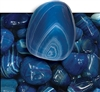 "Blue Agate 3/4"" Tumbled"