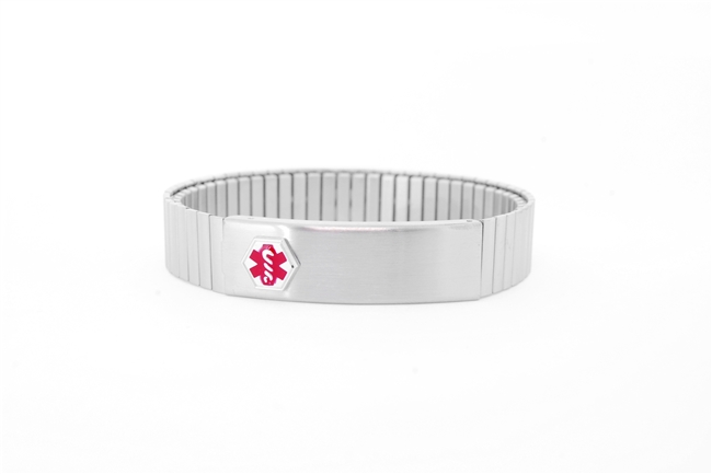 Men's Stainless Steel Expansion Medical ID Bracelet