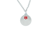 Stainless Steel Two-Piece Disks Medical ID Pendant