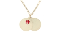 Gold-Plated Two-Piece Medical Pendant