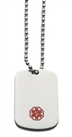 Stainless Steel Medical ID Dog Tag