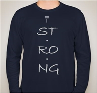 T. Strong Men's Graphic Performance Long Sleeve
