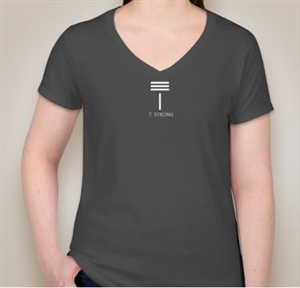 T. Strong Women's V-Neck T-Shirt