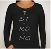 T. Strong Women's Graphic Long Sleeve T-Shirt
