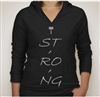 T. Strong Women's Graphic Hooded T-Shirt