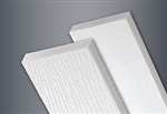 1x8x12' WOOD GRAIN WHITE TANZA PVC TRIM SMOOTH BACK