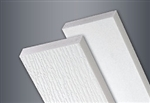 1x8x18' WOOD GRAIN WHITE TANZA PVC TRIM SMOOTH BACK