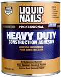 LIQUID NAILS ADHESIVE GALLON