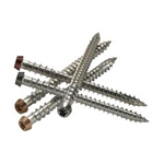 "AZEK STAINLESS SCREWS 2-1/2"" BROWN 350pc"