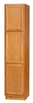 CHADWOOD BROOM CABINET 24x84x24D #24BRB