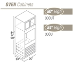CHADWOOD OVEN CABINET #30OU