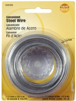 110' CEILING WIRE / ANCHOR WIRE GALVANIZED