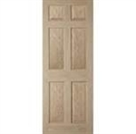 "24"" OAK DOOR ONLY 6 PANEL"