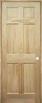 "24"" SIX PANEL OAK PREHUNG DOOR RIGHT HAND"