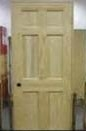 "28"" RP6 SIX PANEL PINE PREHUNG DOOR RH"