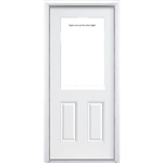 "H89 36"" LEFT PREHUNG DOOR UNIT ( 1L-OPEN )"