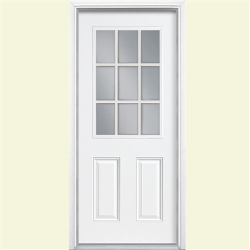 "S4 36"" LEFT 9-LITE DOOR UNIT"