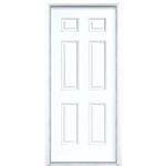 "36"" FIBERGLASS LEFT HAND DOOR SIX PANEL"