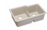 DOUBLE BOWL ELKAY QUARTZ UNDERMOUNT SINK BISQUE