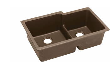 DOUBLE BOWL ELKAY QUARTZ UNDERMOUNT SINK MOCHA