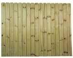 "6'x8' DOGEAR FENCE 6"" PICKET TREATED"