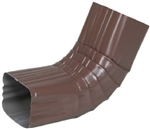 ALUMINUM GUTTER ELBOW (''A'') BROWN