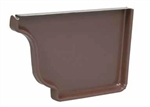 ALUMINUM GUTTER END CAP LEFT BROWN