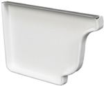ALUMINUM GUTTER END CAP LEFT WHITE
