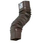 ALUMINUM GUTTER FLEX ELBOW PLASTIC BROWN