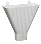 WHITE FUNNEL PLASTIC ( GUTTER & DOWNSPOUT )