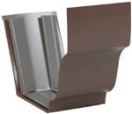 ALUMINUM GUTTER SLIP JOINT BROWN