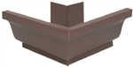 ALUMINUM GUTTER OUTSIDE MITER BROWN