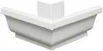 ALUMINUM GUTTER OUTSIDE MITER WHITE
