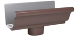 ALUMINUM GUTTER END PIECE OUTLET BROWN