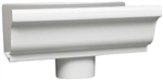 ALUMINUM GUTTER END PIECE OUTLET WHITE