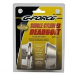 SINGLE DEAD BOLT S/STEEL G-FORCE