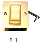 POCKET DOOR LOCK PASSAGE BRASS