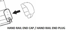 BLACK HAND RAIL CAP REGAL ALUMINUM RAIL HRCB