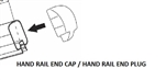 WHITE HAND RAIL CAP REGAL ALUMINUM RAIL HRCW