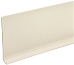 "ALMOND VINYL WALL COVE BASE 4"" BY THE FOOT"