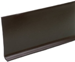 "BROWN VINYL WALL COVE BASE 4"" BY THE FOOT"